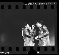 "Run-DMC's Joseph ""Run"" Simmons and Darryl ""D.M.C."" McDaniels performing in Long Beach, Calif., 1984"
