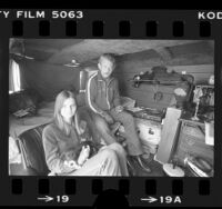 Homeless couple, Charles and Brenda Van Enger living in their van in San Fernando Valley, Calif., 1984
