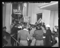M.G.M. studio, fighting between A.F.L. strikers and A.F.L. nonstrikers in 1946