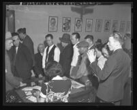 Suspects picked up in Chinatown Lottery raids by Los Angeles District Attorney's Office in 1938