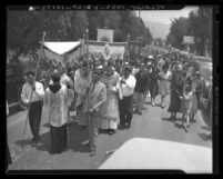 Corpus Christi Day at Pala Mission on the Pala Reservation, San Diego, Calif., 1938