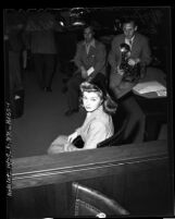 America's Mermaid, actress-swimmer, Esther Williams in court for divorce from Dr. Leonard Kovner, 1944