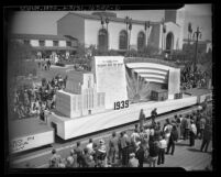 Los Angeles Union Station's opening day parade, Los Angeles Times float, 1939