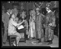 Members of China City theater troop in costume Los Angeles, circa 1939