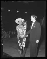Actors Leo Carrillo and Orson Welles at Southern California Musical Fiesta in 1940