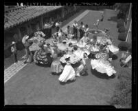 Spanish dancers at San Gabriel Mission Fiesta, Calif., 1940