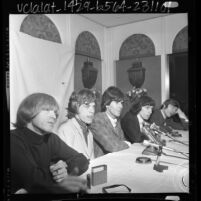 Rolling Stones holding a press conference in Beverly Hills, Calif., 1965
