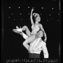 Ice skaters Cathy Steele and Phil Romayne, Calif., 1966