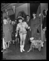 Eugene Chan and Barbara Jean Wong during Chinese New Year celebration in Los Angeles, Calif., 1941