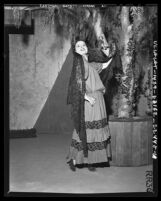 Carmelita Del Rey as Carmelita in the revival of the Mission Play in Riverside, Calif., 1941