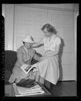Rosa Lorraine Wilcox and  Barbara Ann Richards (formerly Edward Richards) in Los Angeles, Calif., 1941