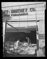 Remodeling of Bancroft Whitney Building on W. 1st Street in Los Angeles, Calif., 1942