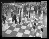 Closing sessions of Times-sponsored Pan-American Chess Congress in Los Angeles, Calif., 1945