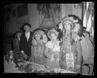 Group of people at Federation of State Societies luncheon at Clifton's in Los Angeles, Calif., circa 1945