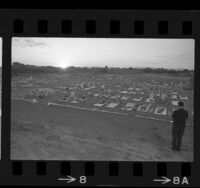 Quechan Indian cemetery on California and Arizona border line, 1966