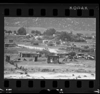 Mexican squatters' shacks in Russian community in Guadalupe, Mexico, 1966