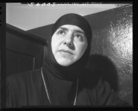 Mother Maria, Mother Superior of convent near Damascus (Syria), Los Angeles, 1949