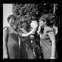 Three female members of Governor Edmund G. (Pat) Brown's Honor guard, Calif., 1966