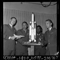U.S. astronauts Robert H. Lawrence, James A. Abrahamson, Robert T. Herres and Donald H. Peterson, 1967