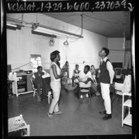 Drama class at Imperial Youth Workshop summer program in South Central Los Angeles, 1967