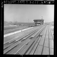 View from bleachers of Orange County International Raceway, Calif., 1967