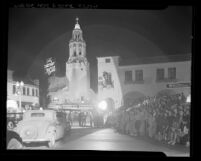 "Premiere of motion picture ""Life of Emile Zola"" at the Carthay Circle Theater in Los Angeles, Calif., 1937"