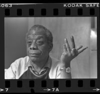 Writer James Baldwin, portrait, 1985