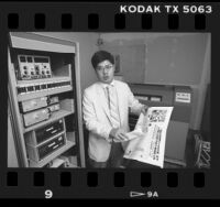 Stephen Fu, publisher of the Chinese paper, Centre Daily News in Los Angeles, Calif., 1985