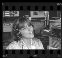 Disc jockey Deirdre O'Donoghue, Los Angeles, Calif., 1985