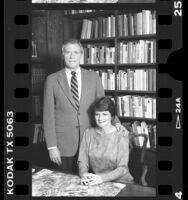 UCLA Chancellor Charles E. Young and wife Sue Young at their official residence in Los Angeles, Calif., 1986