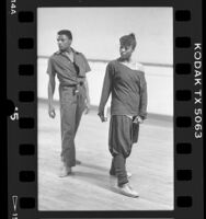Artistic Director Lula Washington and a male dancer rehearsing in Los Angeles, Calif., 1986