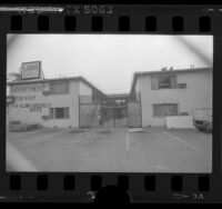 Americana Motel turned into secured illegal alien detention center in Los Angeles, 1986