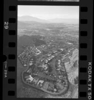 Aerial view of Palm Desert looking north-west towards Palm Springs, Calif., 1986