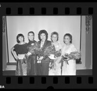 "Five recipients of the Asian Pacific Women's Network ""Woman Warrior"" Awards in Los Angeles, Calif., 1986"