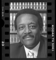 Attorney Johnnie L. Cochran, portrait, 1986