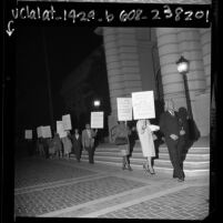 NAACP members picketing city hall in protest over city hiring practices Pasadena, Calif., 1967