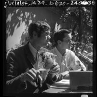 College students and anti-communists activists Dana Rohrabacher and Allen E. Brandstater in Los Angeles, Calif., 1968