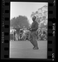 Golfer Charlie Sifford smiling as he wins the 1969 Los Angeles Open
