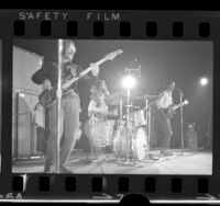 Creedence Clearwater Revival performing on stage at the Forum in Los Angeles, Calif., 1969