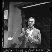 Half-length portrait of actor Ricardo Montalban, Los Angeles, 1970