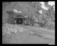 Tunneling through San Gabriel Range for Angeles Crest Highway, Cedar Springs (vicinity), 1949