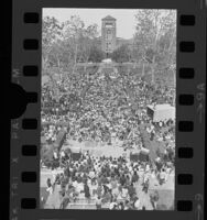 Overhead view of USC student peace rally, 1970