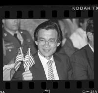 Haing S. Ngor during his United States citizenship ceremony in Los Angeles, Calif., 1986