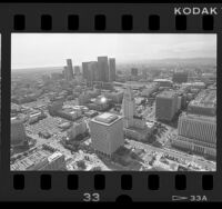 Aerial view of downtown Los Angeles, 1986