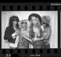 Los Angeles based music group, Poison, 1986