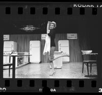 "Actress Jean Smart as Babs in production of ""Mrs. California"" at Los Angeles Public Theatre, Calif., 1986"