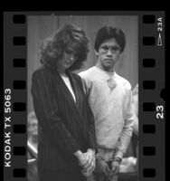 Arnel Salvatierra and his attorney, Marcia Morrisey at his arraignment in Glendale, Calif., 1986