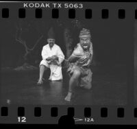 "Richard Lee Sung and Keone Young in Loyola Marymount University production of ""Rashomon,"" 1986"