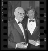 Armand Hammer and Robert Gale at 88th birthday tribute to Hammer in Los Angeles, Calif., 1986