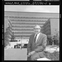 Dr. Sherman Mellinkoff, Dean of UCLA medical school, 1986